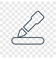 Edit concept linear icon isolated on transparent vector