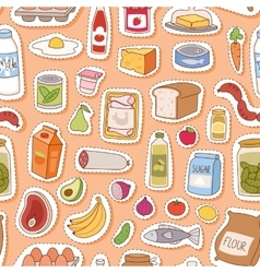 Everyday food seamless pettern vector image
