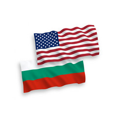 flags bulgaria and america on a white vector image