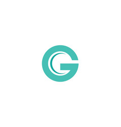 g letter logo business vector image
