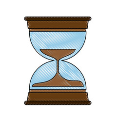 hourglass antique clock vector image