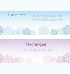 Hydrangea frame 1 vector