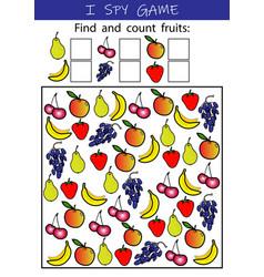 i spy fruits - educational game for kids vector image