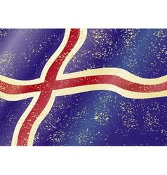 Iceland grunge flag vector