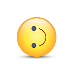 Inverted smiley face turned on the side emoticon vector