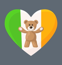 Irish Teddy Bears vector image