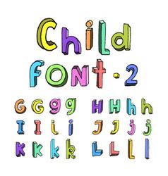kids cartoon alphabet vector image