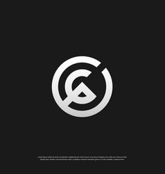 letter c p cp pc monogram logo design eps 10 vector image