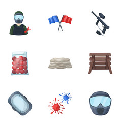marker for paintball equipment balls and other vector image