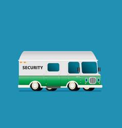 modern bank armored van vehicle vector image