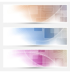 Modern geometry business cards collection vector image