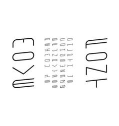 move italic font alphabet vector image