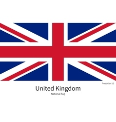 National flag of United Kingdom with correct vector