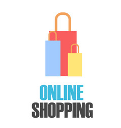 online shopping colorful bags background im vector image