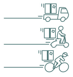 Package delivery icons with blank space vector