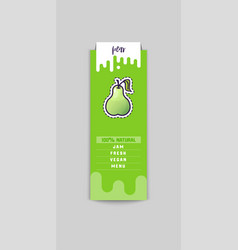 pear sticker and eco products web element vector image