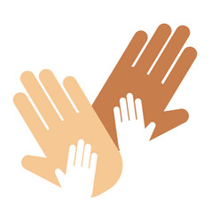 People hands showing greeting wrist direction vector