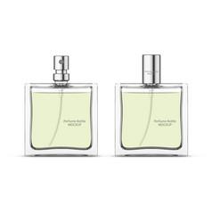 Perfume glass bottle mockup vector
