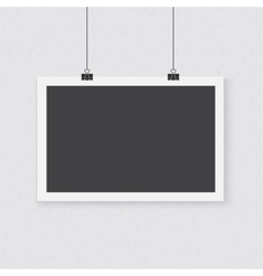 Photorealistic Poster Template Realistic vector image
