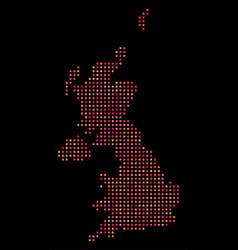 Pixelated united kingdom map vector