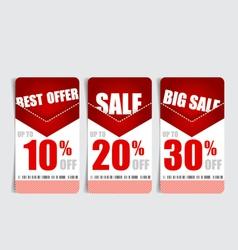 Price tag sale coupon voucher Vintage Style vector