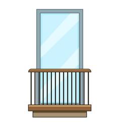 rail balcony icon cartoon style vector image