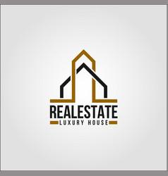 real estate - elte property logo template vector image