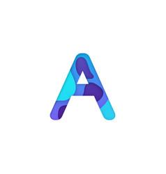 realistic paper cut letter a vector image