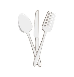 Restaurant emblem with cutlery vector