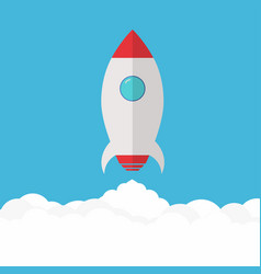 rocket launch project startup and development vector image