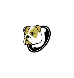 sad dog logo vector image