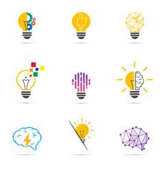 set light bulb icon energy and idea symbol vector image