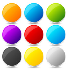 set of colorful blank circles with 3d effect vector image