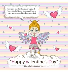 St Valentines Day card vector