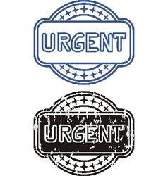 Stamp urgent vector