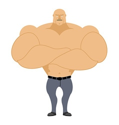 Strong man Bodybuilder athlete on a white vector image