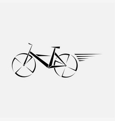 symbol of a bicycle cycling bike logo vector image