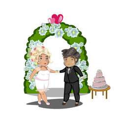 wedding celebration getting married vector image