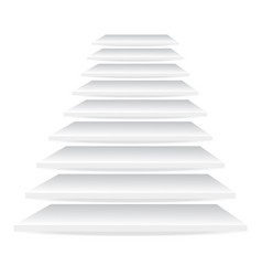 white stairs on white background stock vector image