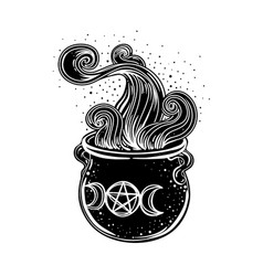 witches cauldron isolated vector image