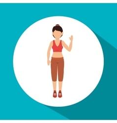 Woman athlete avatar fitness sport vector