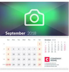 calendar for september 2018 week starts on sunday vector image