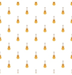Classical guitar pattern cartoon style vector image