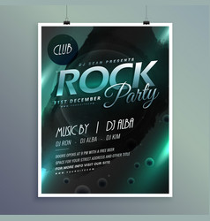 Club rock party music flyer template vector