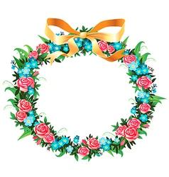 Retro wreath vector