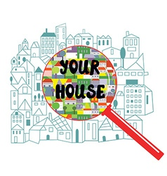 Searching of the house concept vector image