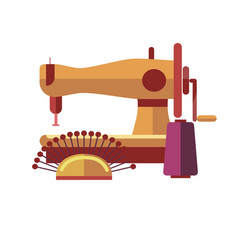 Sewing equipment to create stylish clothes by vector