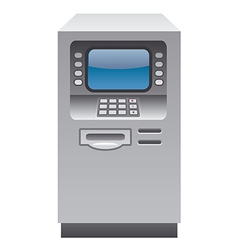 atm cash machine vector image vector image