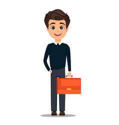 business man cartoon character young handsome vector image vector image