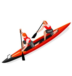 Canoe Double 2016 Sports Isometric 3D vector image vector image